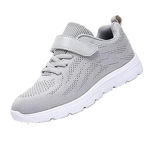 Scarpe Sportive Casual per Bambini Sneakers da Corsa Leggere Antiscivolo Easy Walk Hook And Loop Sneaker Traspirante per Ragazzi e Ragazze 25-29