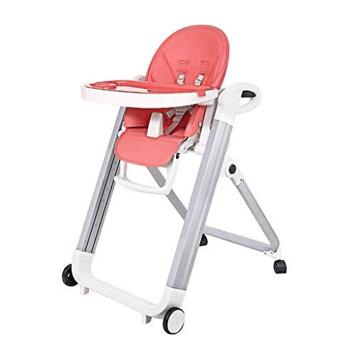 YEXIN Ascensor Plegable bebé Silla de Comedor, Comedor de bebé Sentado, 9-Velocidad de Ajuste de Altura, Plegable y móvil-sin Necesidad de instalación
