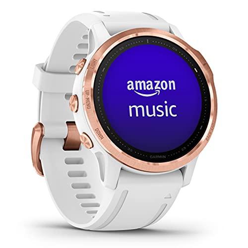 Garmin fenix 6S PRO – schlanke GPS-Multisport-Smartwatch mit 1,2 Bildschirm, vorinstallierten Europakarten, Garmin Music & Garmin Pay. Wasserdicht bis 10 ATM & bis zu 9 Tage Akkulaufzeit