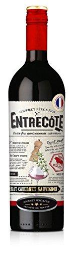 ENTRECOTE Steak Wein Rotwein Merlot Cabernet Sauvignon Syrah 6 x 0,75L