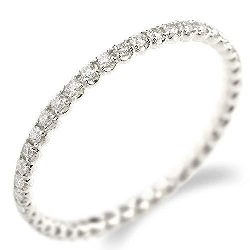 [アトラス]Atrus リング レディース pt900 プラチナ900 ダイヤモンド フルエタニティ 指輪 ピンキーリング 5号