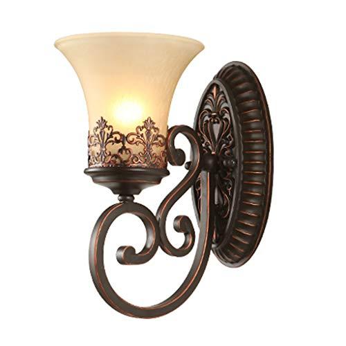LMJ Lámpara de Pared Pared lámpara de Pared lámpara, cabecera del Dormitorio de Lectura pequeña lámpara de Noche Moderna (marrón) Habitación