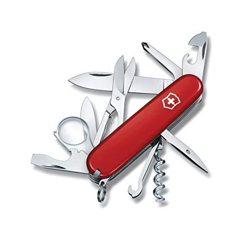 Victorinox Taschenmesser Explorer (16 Funktionen, Lupe, Phillips-Schraubendreher, Schere, Korkenzieher), rot