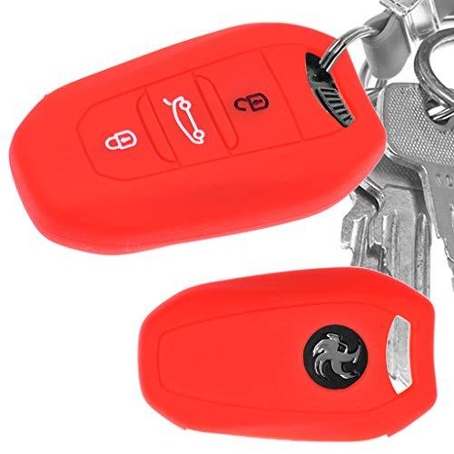 Auto Schlüssel Hülle Silikon Schutz Cover Rot für Citroen C4 DS4 DS6 DS5 DS7 Peugeot 208 508 2008 4008