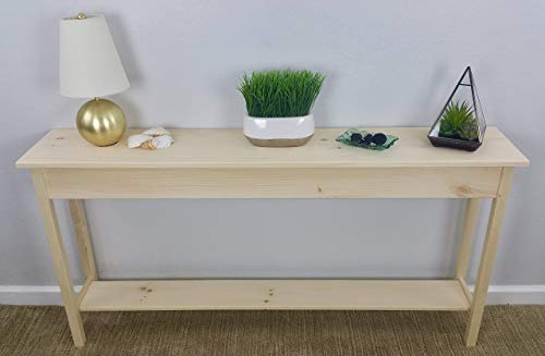 60' Unfinished Pine Wall, Foyer, Sofa, Console, Hall Table With...