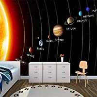 カスタマイズされた3D壁画キッズ壁紙ソーラーシステム惑星壁壁画リビングルーム子供の寝室壁紙テレビソファ背景, 300cm×210cm