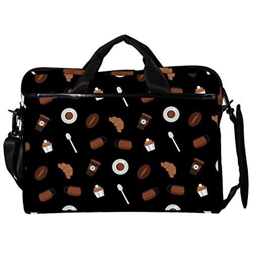 Vockgeng Postres de Chocolate Funda Protectora de 15 Pulgadas para portátil, Funda ultrabook para portátil, Bolso de Hombro, Bolsa de Mensajero para MacBook Pro, MacBook Air