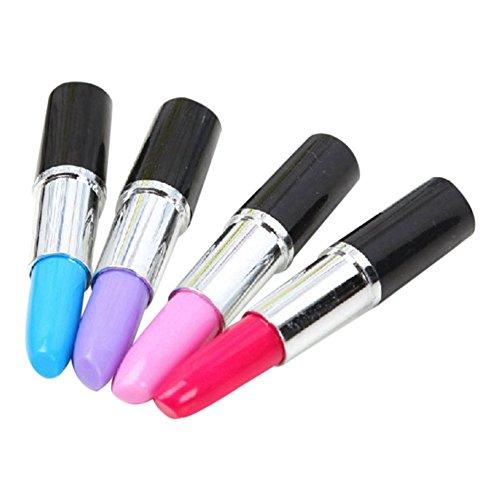 tellaLuna Pack de 12 bolígrafos de 0,5 mm, con forma de lápiz labial, para oficina, escuela, suministros para estudiantes y niños