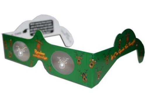 Purchase 10 3D Paper Glasses, Holiday Specs, Reindeer, Bulk