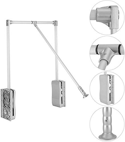 SALISCENDI per Armadio Guardaroba, Appendiabiti Automatico con Apertura e Chiusura assistita- Larghezza Regolabile (450-600 mm, Senza Spessore)
