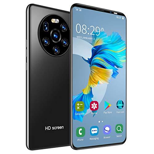 Smartphone sbloccato MATE40 PRO 3G, schermo intero HD da 5,45 pollici, 1 + 8 GB, dual-core MTK6572, sblocco dell impronta digitale APP, telefono cellulare dual SIM dual standby per Android 6.0(nero)