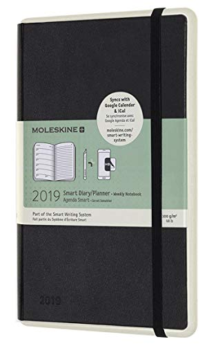 2019 Moleskine Paper Tablet Notebook Black Large Weekly 12-month Diary