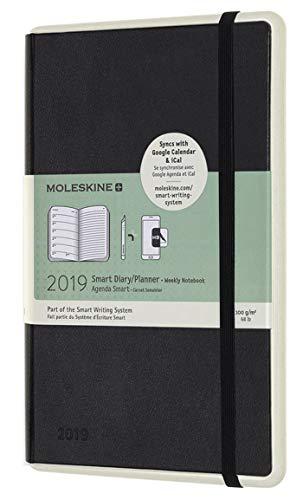 Moleskine 2019 Agenda Settimanale Smart Paper Tablet 12 Mesi, con Spazio per Note, Large, Nero