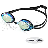 Weyeen Swimming Goggles for Adults Men Women and Kids Age 8+, Anti Fog UV Protection Racing Swim Gog...
