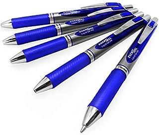 Energel BL80 Retractable Liquid Gel Ink Rollerball Pen - 1.0mm - Blue - Pack of 5