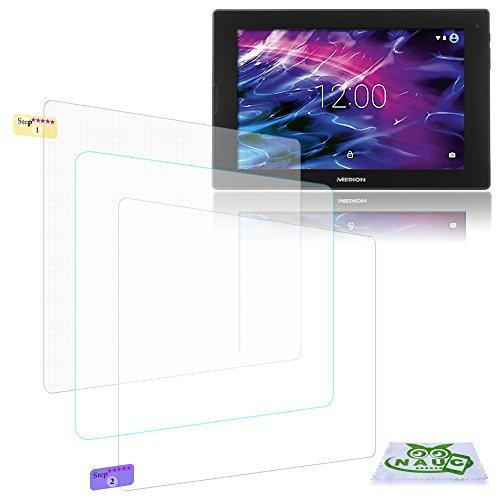 NAUC Bildschirm-Schutz-Folie Medion Lifetab S10351 S10352 Schutzfolie 2X klar Universal
