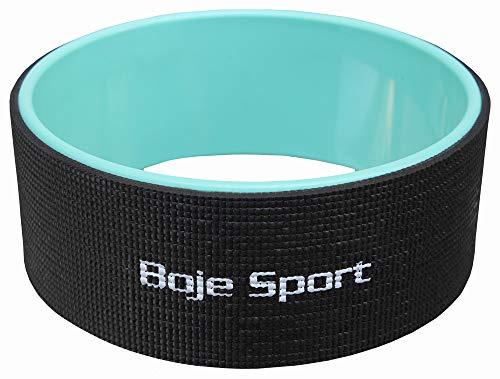 Boje Sport Yogi-Bare, Ruota di Yoga - Rotella per Yoga, Colore: Nero/Verde Menta, Yogi Bare - Yoga Wheel