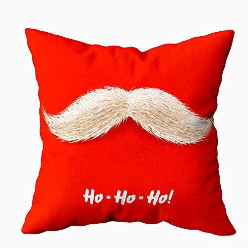 Korting 16x16 kussenslopen, kussenslopen met ritssluiting, kussenslopen gooien kussenslopen Santa Mustache voor slaapbank