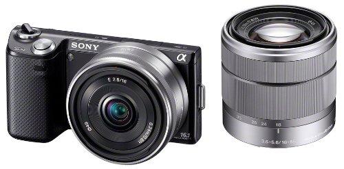 ソニー SONY ミラーレス一眼 α NEX-5N ダブルレンズキット E 16mm F2.8+E 18-55mm F3.5-5.6 OSS付属 ブラッ...