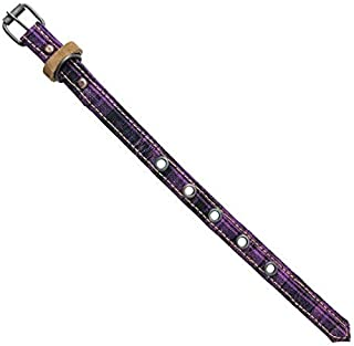 Mayan Pet Collar For Small Size Cats & Dogs (5.75 - 9.75 Inches) Handmade by Hide & Drink :: Tropical Purple