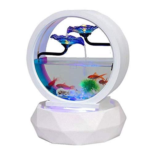 JTWJ Innendekoration Wohnzimmertisch Aquarium Wasserkreislauf
