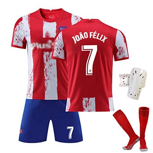 ZQYDUU 2022 Nuevo Camiseta De Fútbol Madrid Camiseta Shorts Hombre Niños, Suárez João Félix Jerseys Equipo Trajes De Entrenamiento Uniforme Camiseta Chándales Ropa Deportiv #7-26