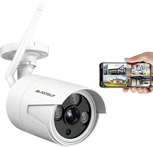 Maysly CCTV-bewakingscamera, 1080p HD IP-camera met 1-weg audio buitencamera voor buiten, IR-nachtzicht-bewegingsdetectie, compatibel met Maysly draadloos NVR-systeem