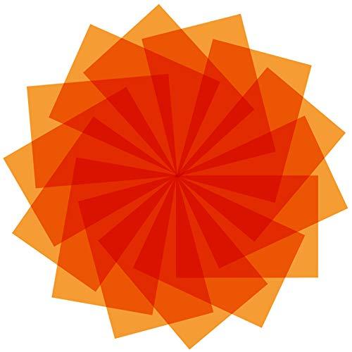 9 Stück Gelfilter Farbige Overlays Korrekturgel-Lichtfilter Transparente Farbfolie Kunststoff-Folien, 29 x 21 cm (Orange)
