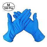 NHGFP 100 guantes de goma para cocina, lavado, médico, trabajo, comida, jardín, herramientas de limpieza para el hogar, 100 unidades M