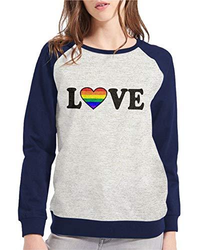 Moletom Raglan Feminino Mescla LGBT Love ES_153