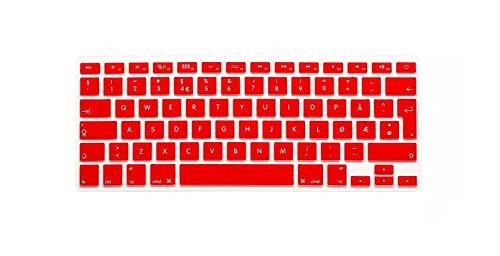 Norwegian - Carcasa de silicona para Apple MacBook Air Pro Retina 13 15 17 para Mac Book Laptop Skin-Red