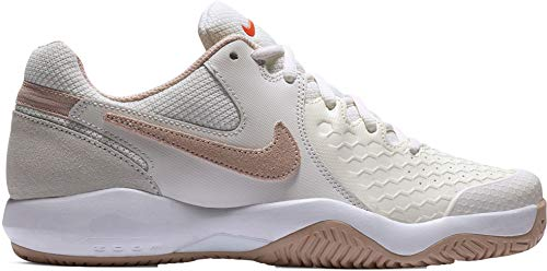 Nike Wmns Air Zoom Resistance, Scarpe da Tennis Donna, Multicolore (Phantom/Particle Beige/Sail/Orange Blaze 002), 39 EU