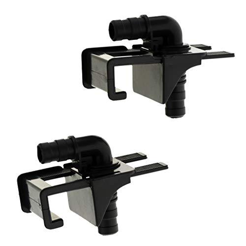 KESOTO 2er-Pack Aquarium Schlauchhalter Schlauchklemme Verstellbare Clips Klammern für Wasserwechsel