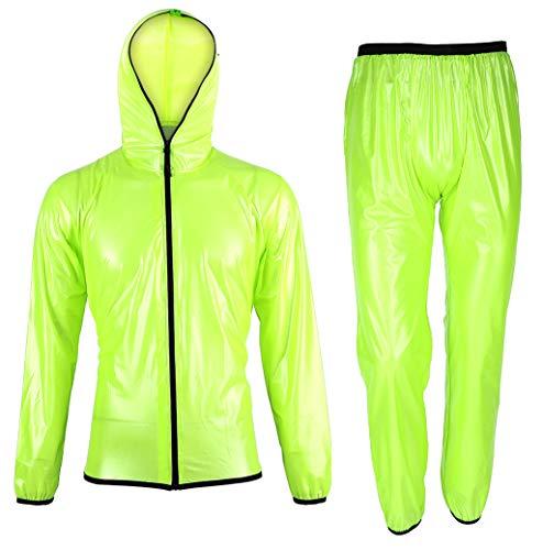 Rehomy Giacca Antipioggia Unisex con Pantaloni per Uomo Donna Tute Impermeabili da Ciclismo con Due Borse portaoggetti