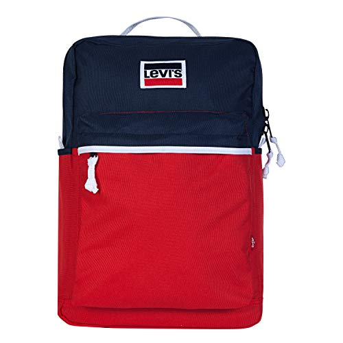 Levi's Jungen L Pack Backpack Rucksäcke, Rot/Marineblau, Einheitsgröße