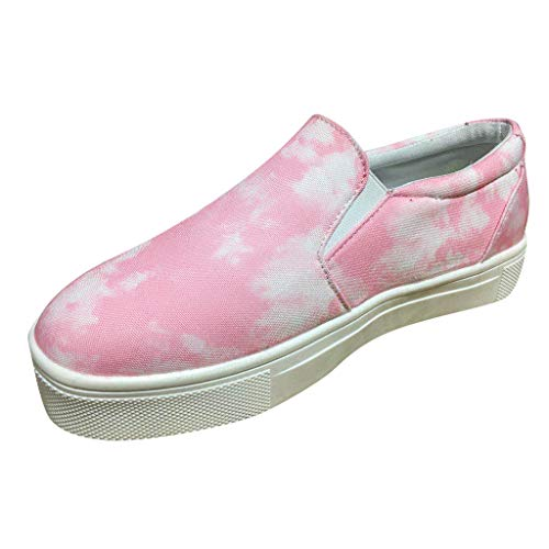 Frauen Slip On Schuhe, Damen Sneakers Klassische Walk Sports Loafers Freizeitschuhe Sneaker Leinwand Klassische Flache Einteilige Flache Schuhe LäSsige Sportschuhe