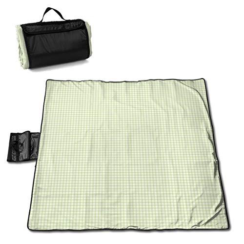 Nonebrand Mini Picknickdecke grün kariert – Outdoor-Picknickdecke, waschbar, faltbar, wasserdicht, für Picknick, Camping, Strand, große Größe 144,8 x 149,9 cm