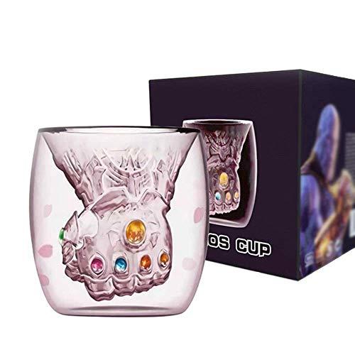 Avengers Thanos Glass Cup Infinity War Handschuhe Kaffee Milch Wein Süße Becher 6-10 Unze / 200-300 ML