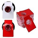 Ignpion Lot de 200 étiquettes réutilisables en plastique à accrocher pour bouteilles de vin et caves Blanc/rouge