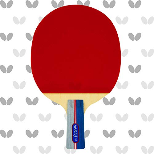 ping pong paddle butterflies 2 Butterfly RDJ CS2 Ping Pong Paddle – ITTF Approved Table Tennis Racket – Excellent Balance of Spin, Speed, and Control – Short Handle Table Tennis Paddle
