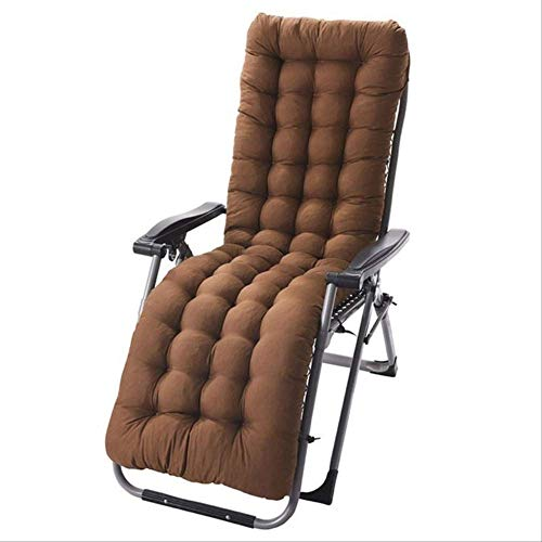 NoNo Sofa raam vloermat Soft Garden Sun Lounger ligkussen verdikke opvouwbare schommel Long rotan stoel zitkussen 110x40cm lichtgrijs