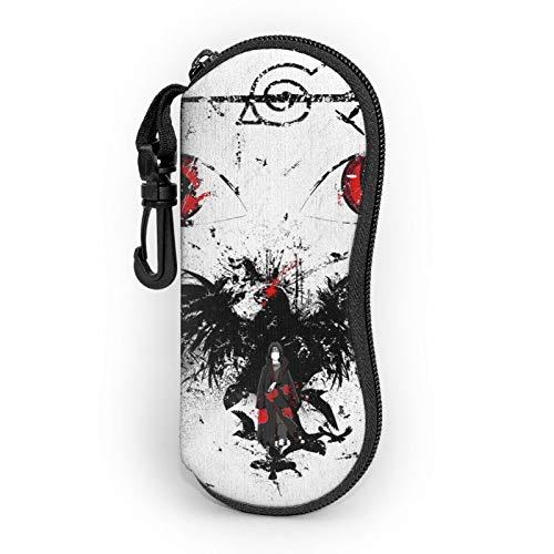 La funda para gafas Anime Naruto Uchiha Itachi está hecha de neopreno súper suave, ligero y cómodo portátil con cremallera para gafas de viaje