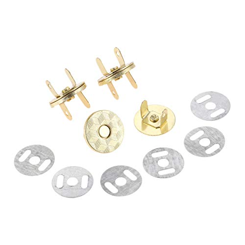 10 stks Metalen Magnetische Knop Tassen Magnetische Snaps Sluiting Zuig Gesp Kleding Knopen Handtas Accessoires 18MM Goud
