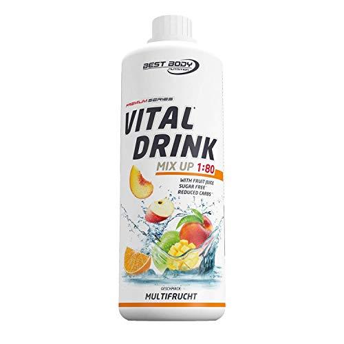 Best Body Nutrition Vital Drink Multifrucht, Getränkekonzentrat, 1000 ml Flasche