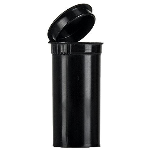 105x 19DRAM/80ml Pop top bottiglie contenitore flaconcini RX–nero–approvato dalla FDA Medical grade plastica a prova di bambino (pp-bk-105)