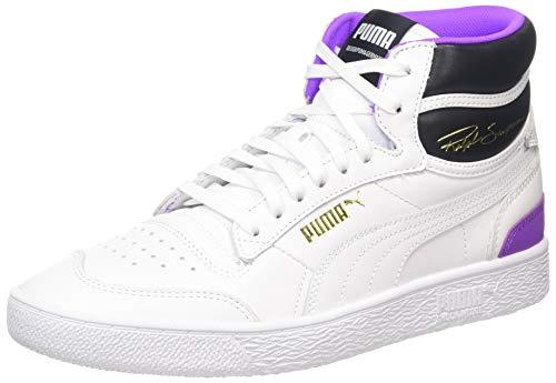PUMA Unisex-Erwachsene Ralph Sampson MID Sneaker, (Puma White-Puma White-Purple Glimmer 05), 9 (43 EU) EU