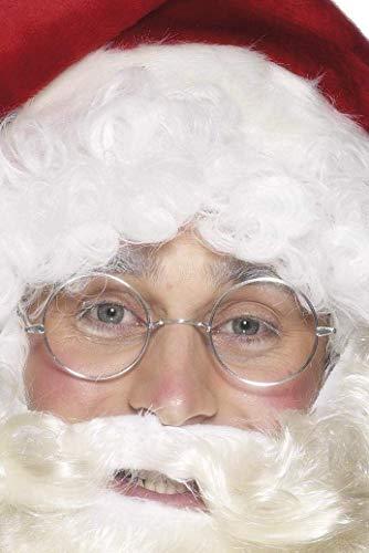 Smiffys Lunettes de Père Noël aux contours métalliques, Argent