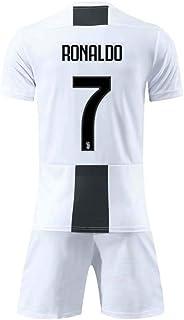 COOLBOY Herren Breathe Trikot, Ronaldo 7#, Heim & Auswärts Trikot und Shorts Kinder und Jugend Größe