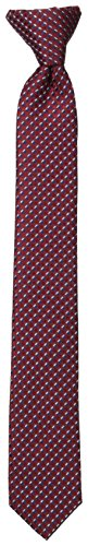 Dockers Big Boys' Geo Clip On Tie, Red, One Size