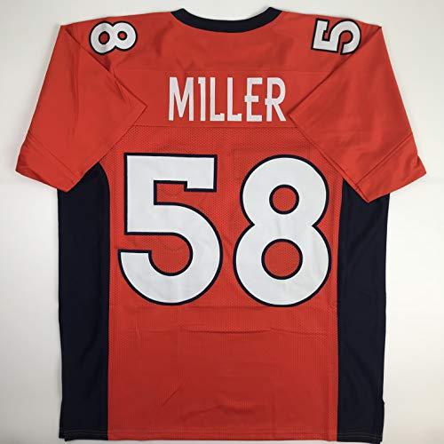 Unsigned Von Miller Denver Orange Custom Stitched Football Jersey Size Men's XL New No Brands/Logos